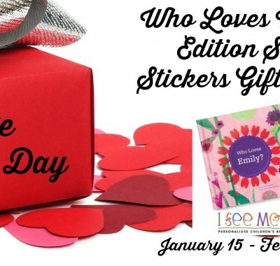 Who Loves Me? Valentine Edition Storybook & Stickers Gift Set Giveaway 02/14