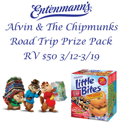Entenmann's Alvin & The Chipmunks Giveaway 03/19