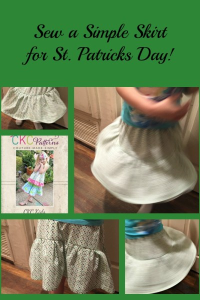 Sew a Simple Skirt for Girls on Saint Patricks Day!