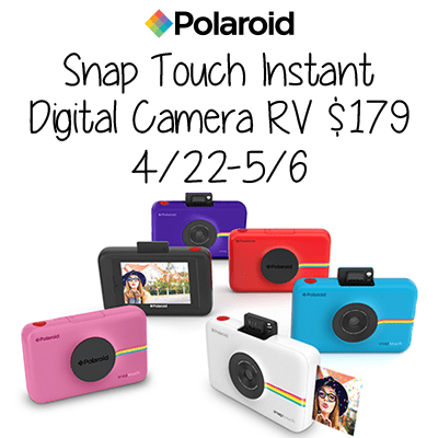 Polaroid Snap Touch Instant Digital Camera Giveaway