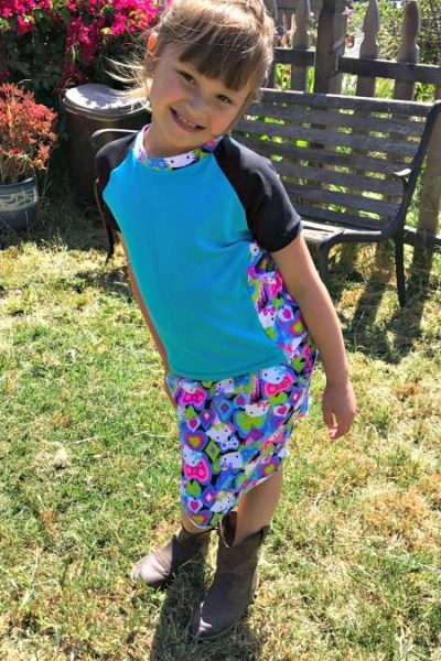 Gorgeous Free Straight Skirt Pattern for Girls from Little Kiwi's Closet
