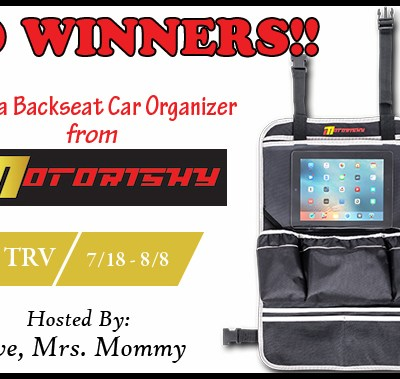 Motorishy Backseat Car Organizer Giveaway!