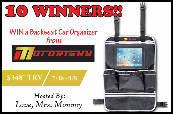 Motorishy Backseat Car Organizer Giveaway!