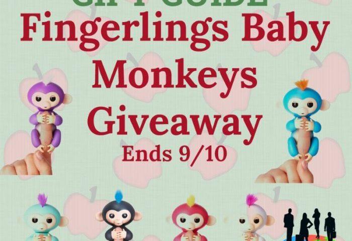 Fingerlings Baby Monkeys Giveaway Ends 9/10 @SMGurusNetwork @WowWeeWorld