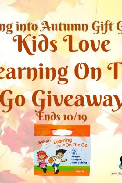Kids Love Learning On The Go Giveaway Ends 10/19
