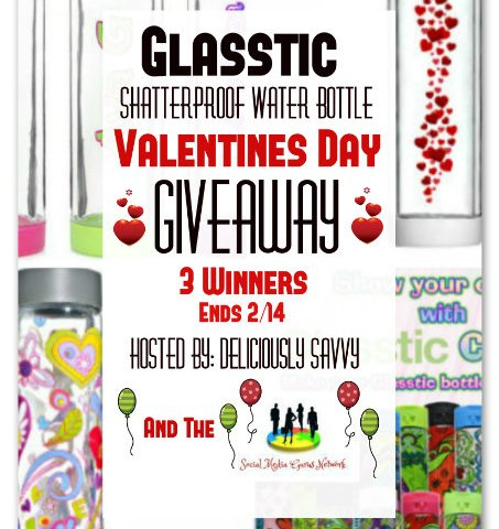 The Glasstic Shatterproof Water Bottle Valentine's Day Giveaway ~ 3 Winners