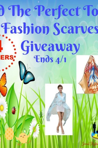 Add The Perfect Touch Fashion Scarves Giveaway Ends 4/1 4 WINNERS