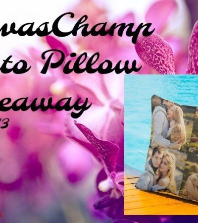 CanvasChamp Photo Pillow Giveaway Ends 5/13