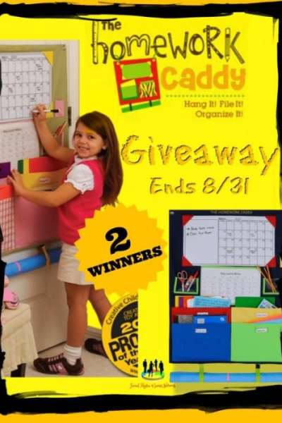The Homework Caddy Giveaway Ends 8/31