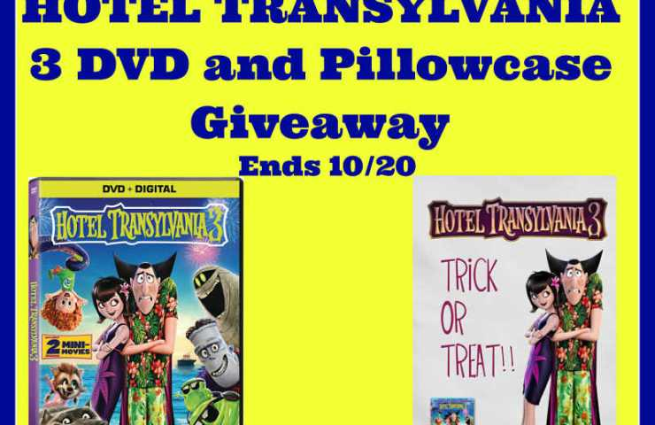 HOTEL TRANSYLVANIA 3 DVD and Pillowcase Giveaway Ends 10/20 #HotelT3