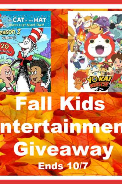 Fall Kids Entertainment Giveaway Ends 10/7