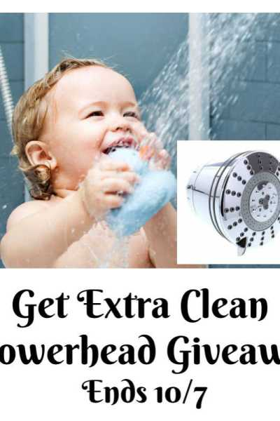 Get Extra Clean Showerhead Giveaway Ends 10/7