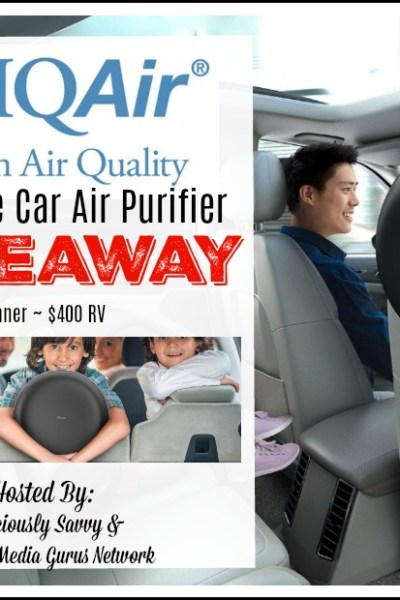 IQAir Ultimate Car Air Purifier Giveaway