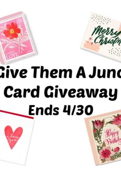 Give Them A Juno Card Giveaway Ends 4/30