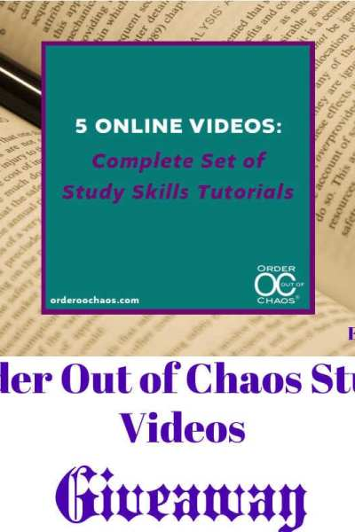 Order Out of Chaos Study Videos Giveaway
