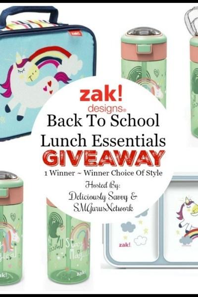 Zak! Designs Back To School Lunch Essentials Giveaway
