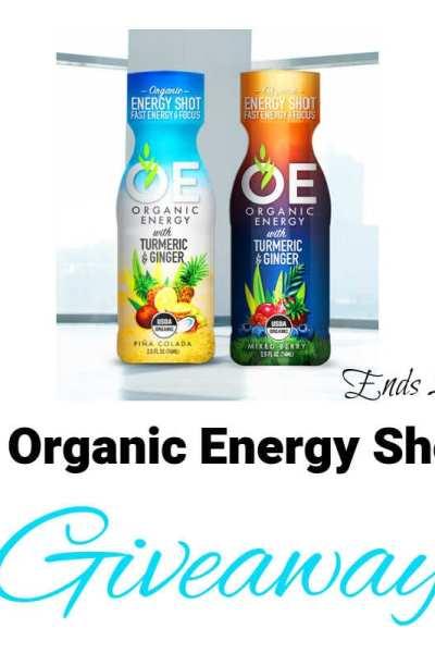 OE Organic Energy Shots Giveaway