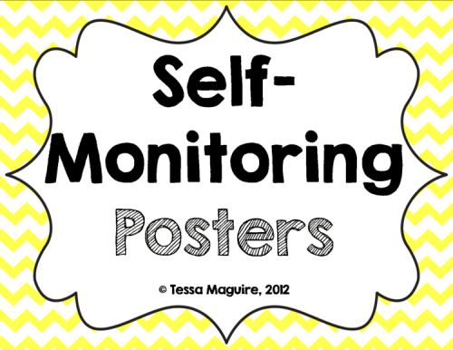 Free Self-monitoring posters