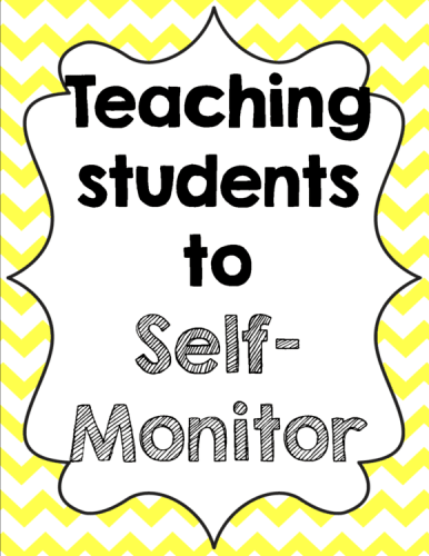 A look at self monitoring, and free posters to display in your classroom.