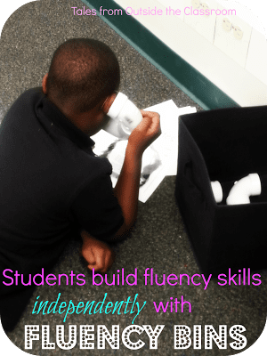 Build students' fluency with fluency bins for independent practice.