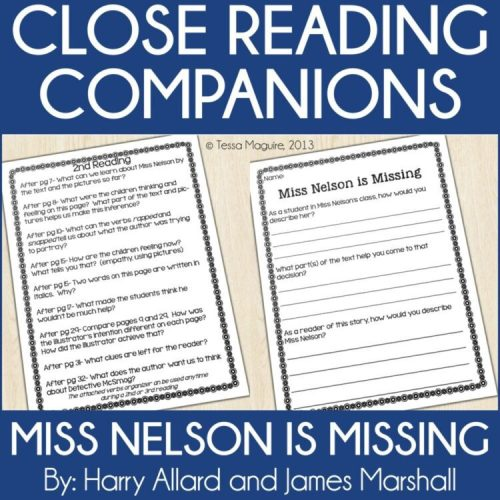 Miss Nelson is Missing Close Reading Companion