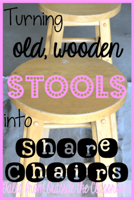Share chairs from wooden stools.