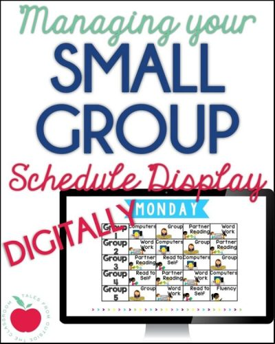 Display and manage your reading and math centers with this easy digital display.