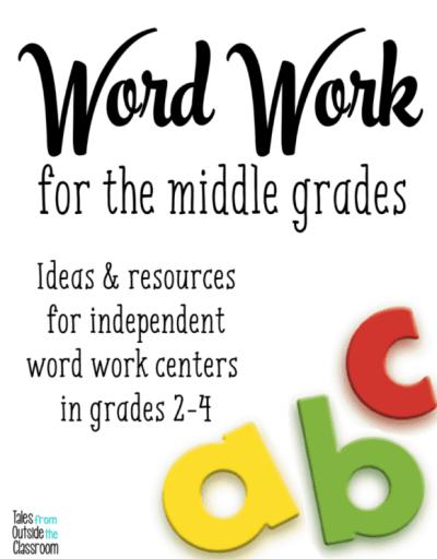 Word Work Ideas for grades 2-4