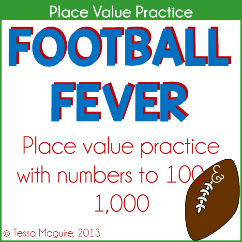 Football Fever place value centers
