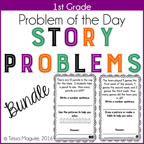 1st Grade Problem of the Day Story Problems
