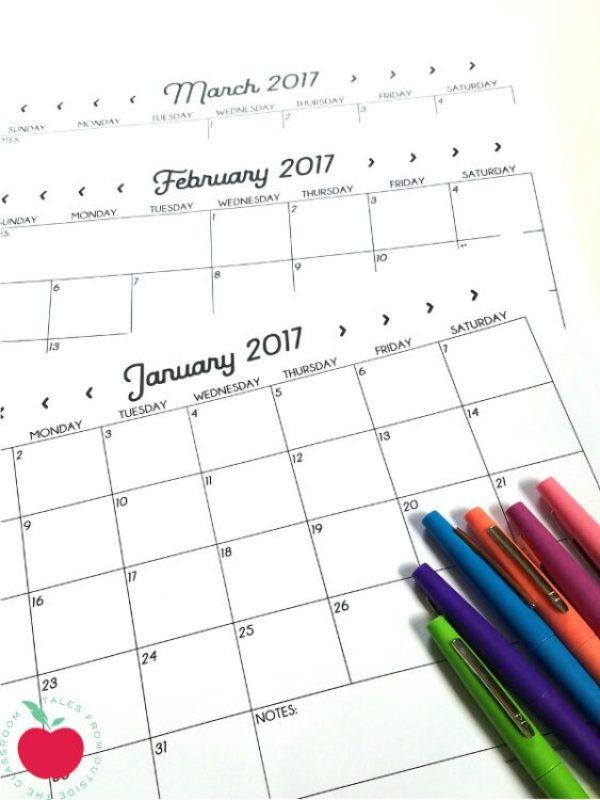 2017-monthly-calendars