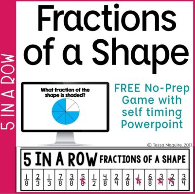 Fractions of a Shape 5 in a Row