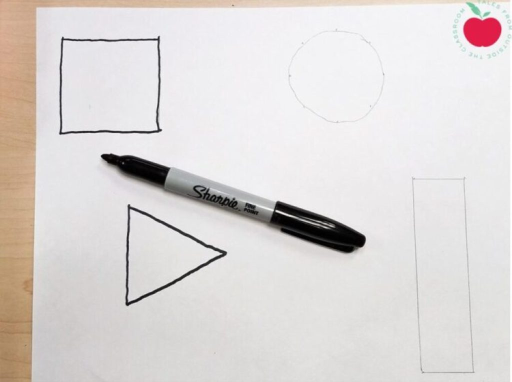 Tracing drawing with Sharpie