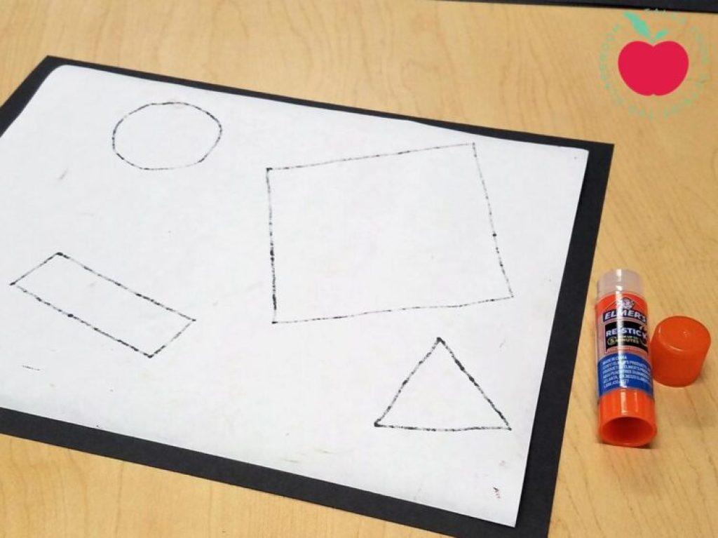 black paper mat