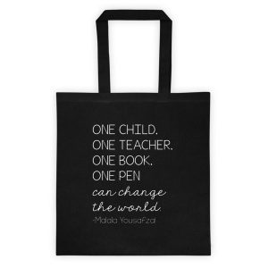 Malala tote bag black