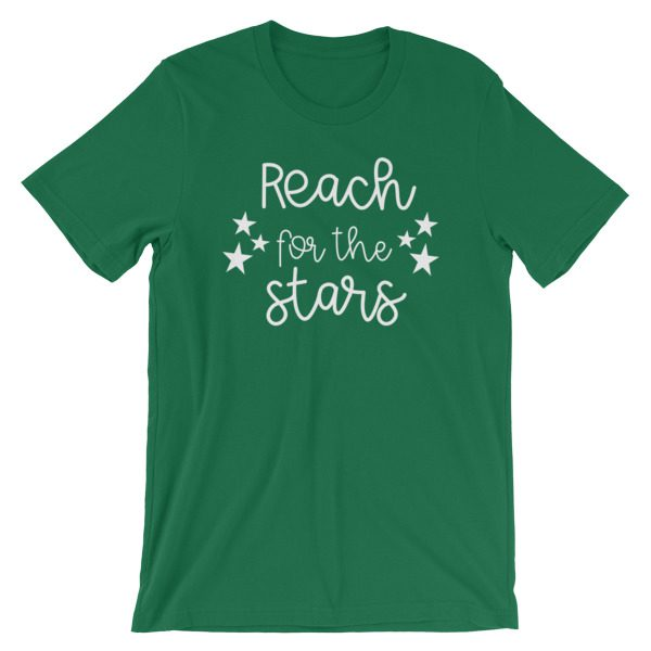 Reach for the stars tee kelly green