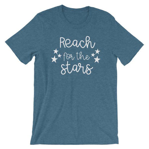 Reach for the stars tee dark heather teal