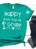 Kelly Green first day of 1st grade teacher tee