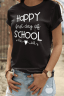First Day of School Teacher tee in black