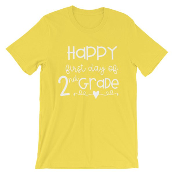 Yellow First Day of 2nd Grade teacher tee