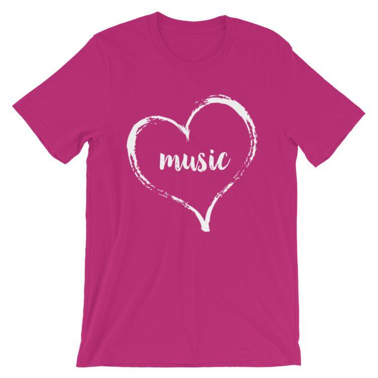 Love Music tee- Berry Pink