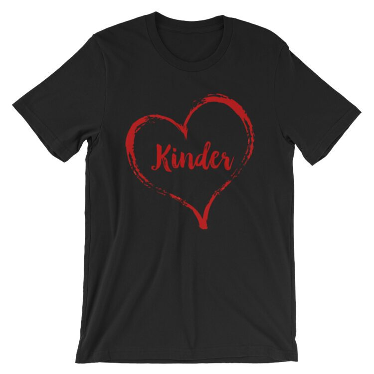 Love Kinder tee- Black with Red