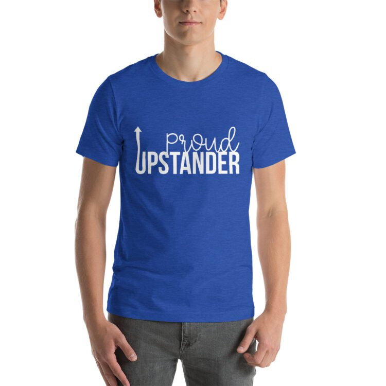 Proud Upstander tee- Heather Royal Blue