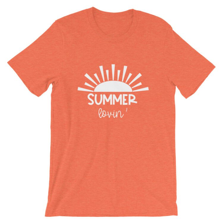 Heather Orange Summer Lovin' tee