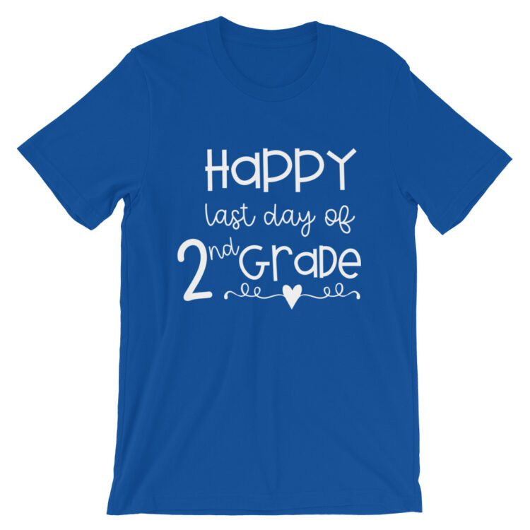 Royal Blue Last Day of 2nd Grade tee