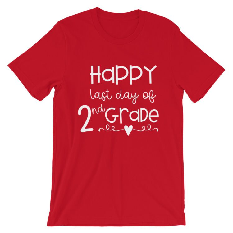 Red Last Day of 2nd Grade tee