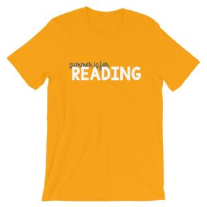 Gold Summer is for Reading tee