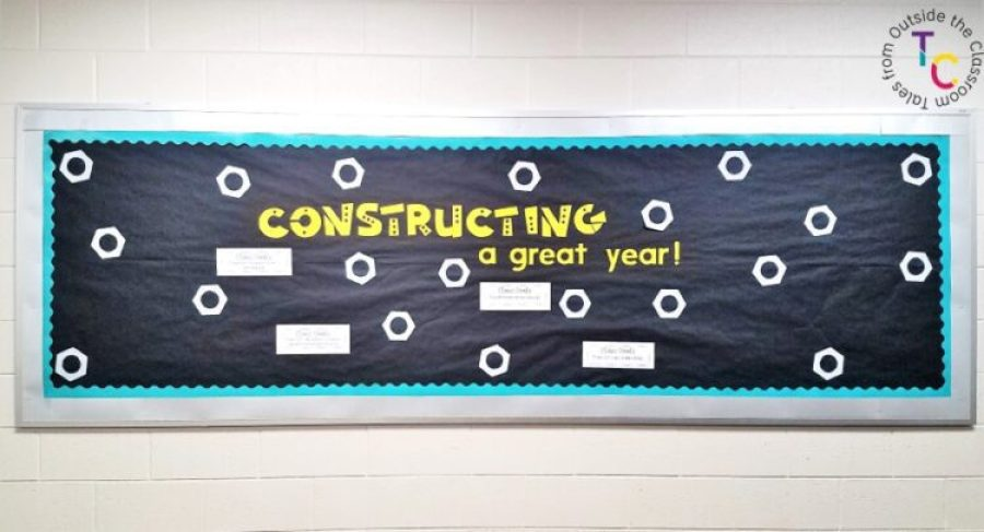 Constructing a great year back to school bulletin board