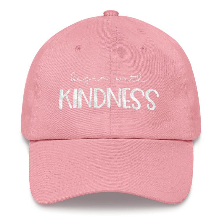 Begin with Kindness hat baby pink