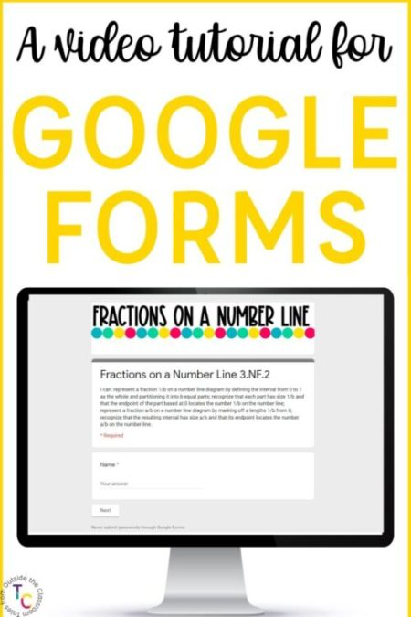 A Video Tutorial for using Google Forms in the Classroom